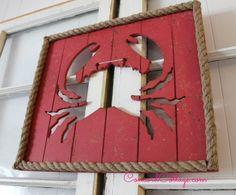 DIY Easy Coastal Crab Art!