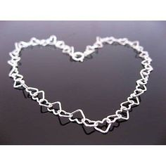 Purchase Sterling Silver Heart Anklet at affordable prices and get the facility of free postage. Also get a gift box with ribbon. Anklet Jewelry, Boho Jewelry, Bridal Jewelry, Women Jewelry, Jewelry Ideas, Sterling Silver Anklet, Silver Anklets, Wire Wrapped Necklace, Jewellery Uk