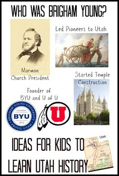 Brigham Young- Utah State History for Kids   Teach Beside Me