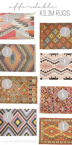 just the bee's knees: Fab Finds ~ Affordable Budget Friendly Kilim Rugs