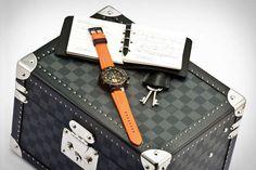 Louis Vuitton Tambour Driving Watch #LouisVuitton #Trunk #Watches http://www.trendhunter.com