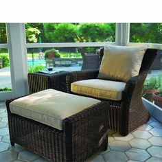 Sag Harbor Lounge Chair - Shop For Backyard Furniture Sets Furniture Covers, Outdoor Furniture Sets, Outdoor Decor, Wicker Furniture, Decor Interior Design, Furniture Design, Interior Decorating, Chair And Ottoman, Cane Chairs