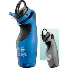 """Replenish interest in your brand with this exclusively designed sport bottle. Made of PETG material, this personalized 22 oz. bottle features a flip top lid with a straw. Plus, this ultimate promotional product or giveaway gift also includes rubber grips on the front and back of the bottle. Available in classic colors, this BPA free item is a cool way to support the environment while staying healthy and hydrated! Measures 10"""" H x 2.5"""" D."""