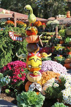 Great idea for a front porch-a pumpkin totem!