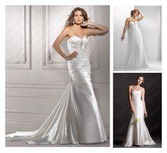"""White Sheath Wedding Dresses"" by vuhera on Polyvore"