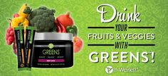 Acidity-fighting magnesium and potassium blend 52 herbs and nutrient rich superfoods 34 fruits and veggies Matcha Green Tea Added Allergen-Free. Soy-Free. Dairy-Free. Vegan. Non-GMO. No artificial colors, flavors or sweeteners Tangy orange flavor Http://totalbody180.myitworks.com/shop/#57