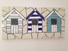 Beach huts using glazed ceramic tiles.