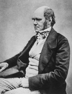 Charles Darwin at the age of 45.