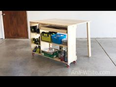 Welcome to the website of Ana White, your source for great DIY furniture and woodworking projects. Choose from a variety of great free woodworking plans! Woodworking Workshop Plans, Workbench Plans Diy, Folding Workbench, Diy Woodworking, Workbench Stool, Industrial Workbench, Mobile Workbench, Garage Workbench, Woodworking Videos