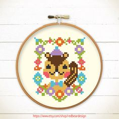 Modern Funny Cross stitch pattern PDF  Mr by redbeardesign on Etsy, £2.50