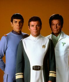 iheart-deeply-in-love-with-you:  Leonard Nimoy, William Shatner and DeForest Kelley in Star Trek:The Motion Picture.  A film that was notab...