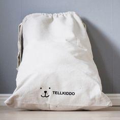 Fabric Storage Bag Sleepy Bear By Tellkiddo