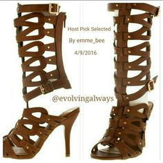 *Host Pick Weekend Warrior New Gladiator Sandals* Sexy Gladiator Sandals size 9 and 10. Let me know what size you need when you purchase the listing. Shoes Sandals