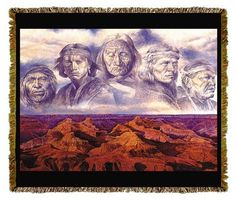 Native American Grandfather Earth Tapestry