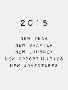2015 - New Chapters