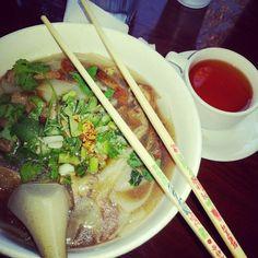 Duck. Noodle soup