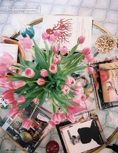 Flowers and Books.