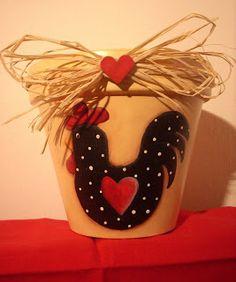 danidan67 hobby creativi: Vaso in stile Country Painting