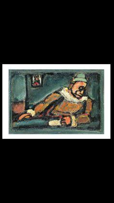 Georges Rouault - Clown, c. 1937 - Oil on cardboard  - 34 x 50 cm - Zürich, E. G. Bührle Collection (..)