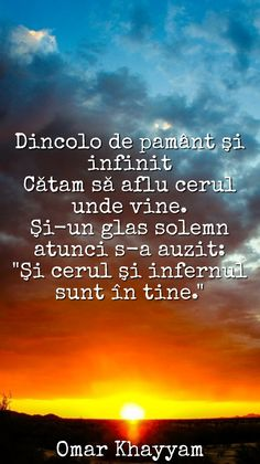 #citat #quote #heaven #hell #sunset #cer #infern #khayyam Heaven, Messages, Thoughts, Sunset, Alba, Quotes, Literatura, Bonito, Quotations