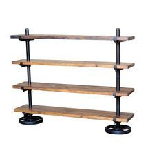 industrial shelving, easily break down into pipes and flat shelves...: