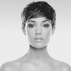 This is fantastic short hair and her face is just flawless!