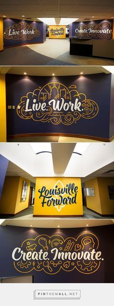 Beautiful Typography. Louisville Forward Murals by Bryan Todd
