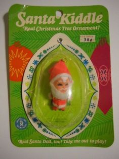 Vintage 1968 Mattel Liddle Kiddles Santa Kiddle Christmas Ornament Mint On Card Ghost Of Christmas Past, Real Christmas Tree, Vintage Christmas, Christmas Ornament, Childhood Toys, Childhood Memories, Barbie Sisters, Retro Toys, 1960s Toys