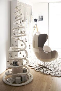 make a spiral tree i just love this all white spiral tree from ligia casanova its so simple and modern and still leaves room for gifts inside