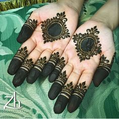 Henna Design on Palm Images Gallery - Henna Design on Palm Picture Gallery For Girl with Cute Design. new best henna design with various cute henna Round Mehndi Design, Mehndi Designs Finger, Finger Henna Designs, Mehndi Designs For Beginners, Modern Mehndi Designs, Mehndi Design Pictures, Mehndi Designs For Girls, Mehndi Designs For Fingers, Beautiful Mehndi Design
