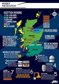 Información básica del whisky escocés en un sólo infográfico...