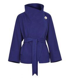 Короткое пальто с поясом LA REINE BLANCHE 138491000 купить в интернет-магазине…