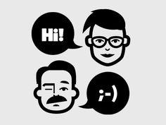 Minimalist faces, simple avatars. Face icon set (Creativemarket) https://creativemarket.com/littlejimi/161572-Jimi's-Avatar-Icons-–-Collection