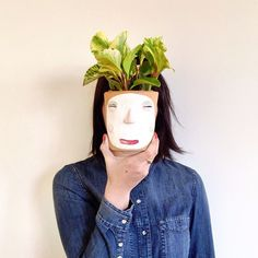 Katie Evans getting plant happy with our Face Planter