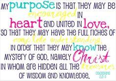 Love this scripture verse - parenting goal.