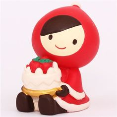 Little Red Riding Hood with cake Christmas figurine Japan