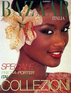 "vintagewoc: ""Beverly Johnson on the cover of Harper's Bazaar Italia "" Ursula Andress, Power Workout, African American Models, Beverly Johnson, Vintage Black Glamour, Jem And The Holograms, Bill Cosby, Fashion Cover, 90s Fashion"