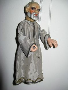 c. 1920...A beautiful authentic hand-mate Marionette, from a Czech puppettheatre