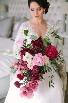 Burgundy Wedding Bouquet - Photography: Tasha Seccombe