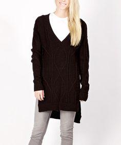 Love this Black Side-Slit Wool-Blend Sweater on #zulily! #zulilyfinds