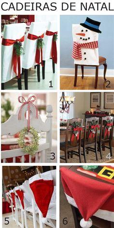 Como incrementar a decoração de Natal usando as cadeiras de casa