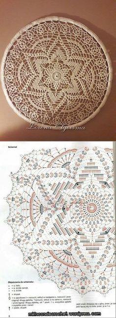 New Ideas Crochet Mandala Flower Doily Patterns Filet Crochet, Beau Crochet, Crochet Chart, Crochet Home, Thread Crochet, Crochet Gifts, Crochet Stitches, Crochet Round, Motif Mandala Crochet