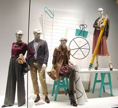 The 9 to 5 collection @nordstrom #vmlife #windowdisplay #visualmerchandising #visualmerchandiser #hm #backtoschool #9to5 #mannequin #vmdaily via @surender_gnanaolivu