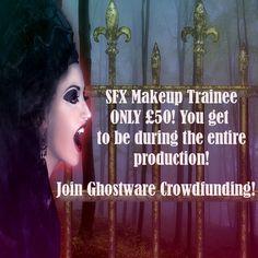 SFX makeup trainee for Ghostware Sci Fi News, Sci Fi Horror, Sfx Makeup, Feature Film, Romance, How To Get, Movie Posters, Romance Film, Romances