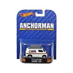 Anchorman '77 Dodge Van Hot Wheels Charity Cars, Ron Burgundy, Dodge Van, Hot Wheels Cars, All Toys, Vintage Toys, Diecast, Corgi, Entertaining