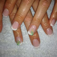 french manicure with design