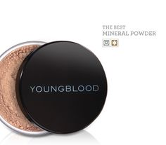 NewBeauty Beauty Choice Award Winner for THE BEST MINERAL POWDER - Youngblood Natural Mineral Foundation