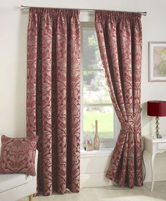 Image for Crompton, Red - Ready Made Curtains