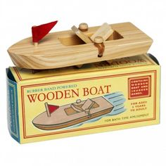 Soft soft for old fashioned wooden toys? Enter this divine retro wooden paddle boat from Lark Australia! A sweet wooden paddle steamer boat powered by rubber bands, for bath time amusement. Little Boo-Teek - Shop Lark Online Wooden Car, Wooden Boats, Woodworking Toys, Woodworking Projects, Woodworking Classes, Wood Projects, Boating Gifts, Wooden Paddle, Paddle Boat