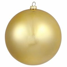 "Matte Vegas Gold Commercial Shatterproof Christmas Ball Ornament 6"""" (150mm)"